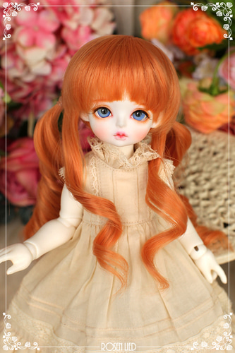 Twin tail (New HRF - Pastel orange)