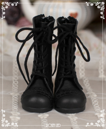 Laced up boots (Black)