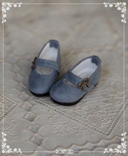 Suede shoes (indigo blue)