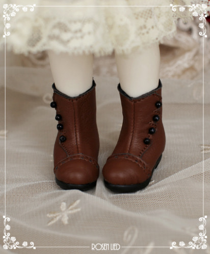 Classical ankle boots (Brown)