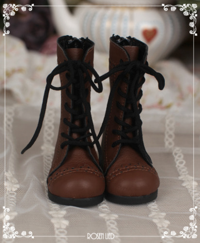 Laced up boots (Brown)